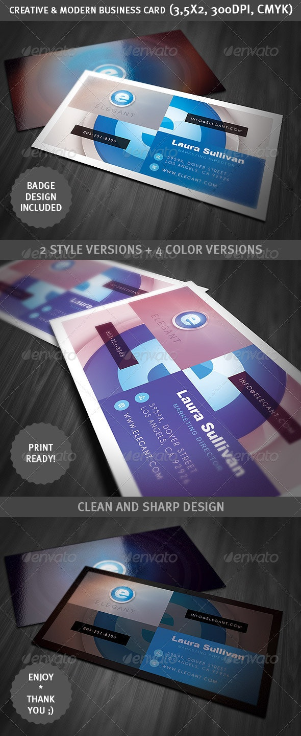 Creative & Modern Business Card - Creative Business Cards