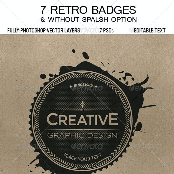 7 Retro Badges