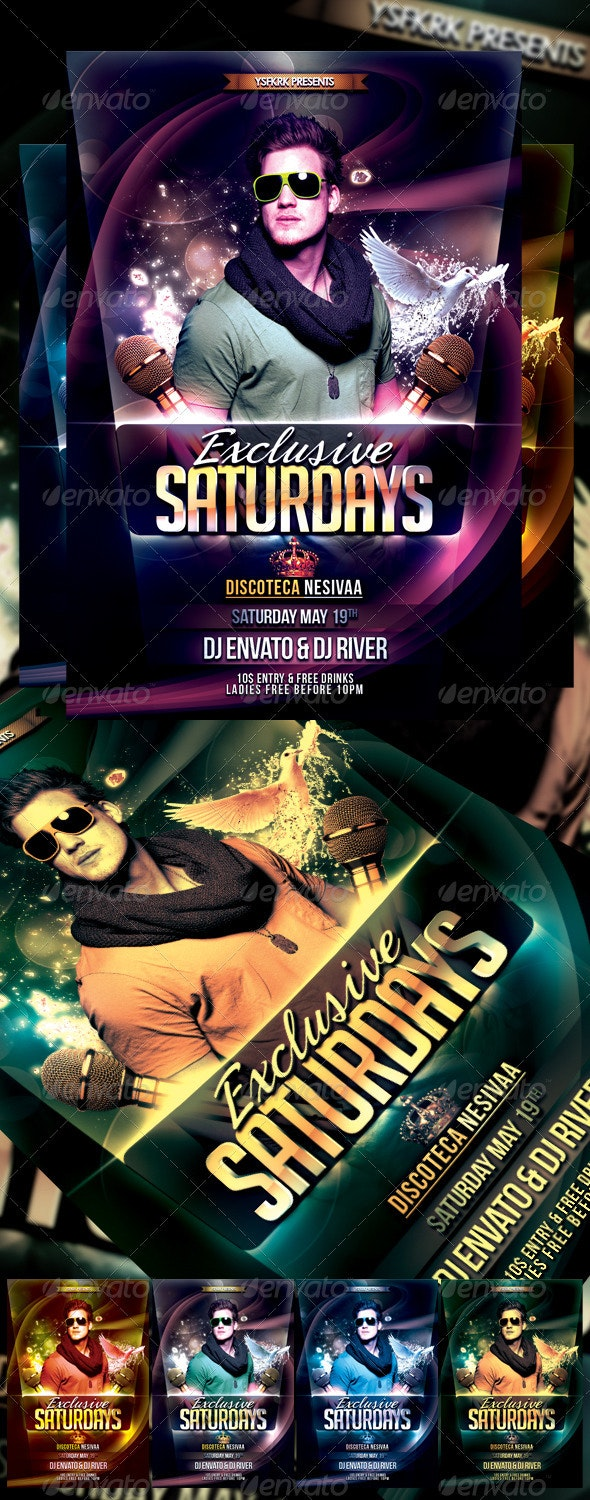 Exclusive Saturday Flyer Template - Clubs & Parties Events