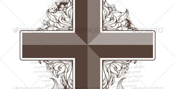 Vector cross shape - Decorative Symbols Decorative