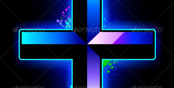 Vector cross shape - Decorative Symbols Decorative