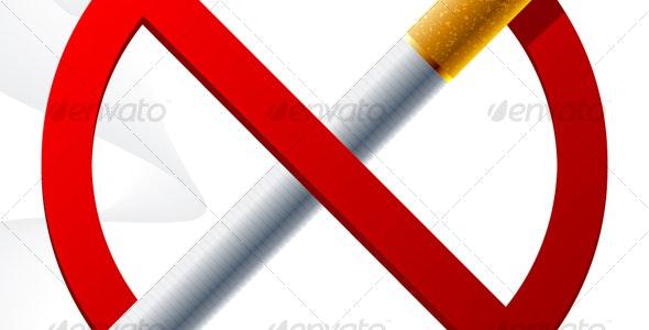 No smoking sign - Objects Vectors