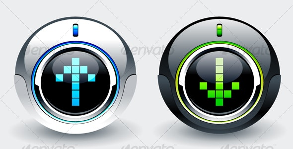 High tech buttons - Technology Conceptual