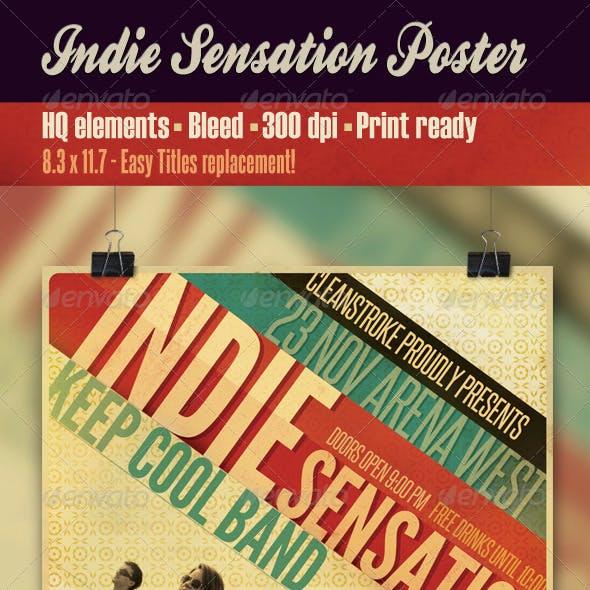 Indie Sensation Poster
