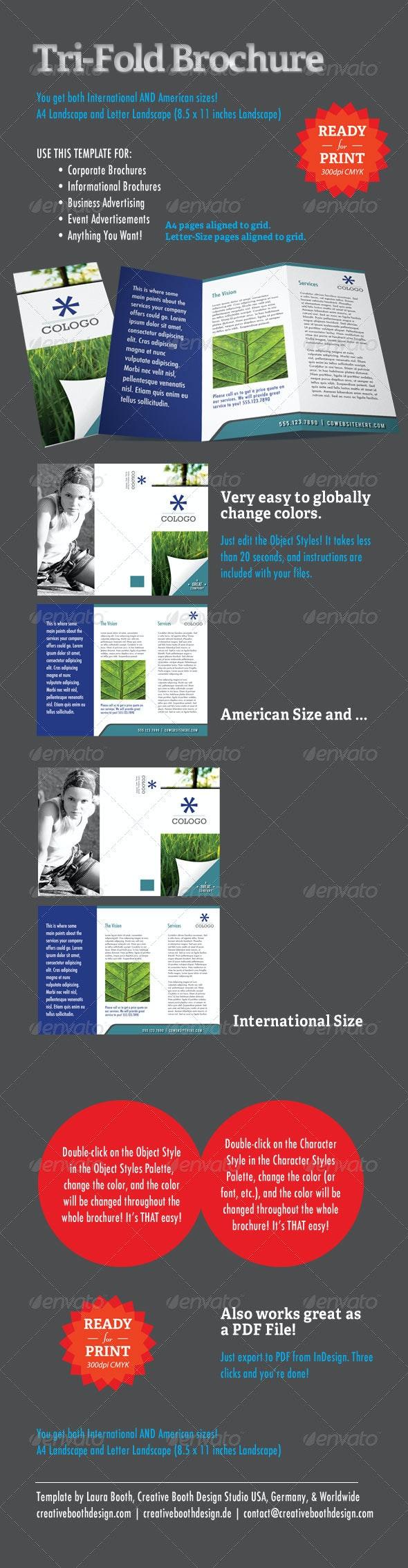 Tri-Fold Brochure InDesign Template - Brochures Print Templates
