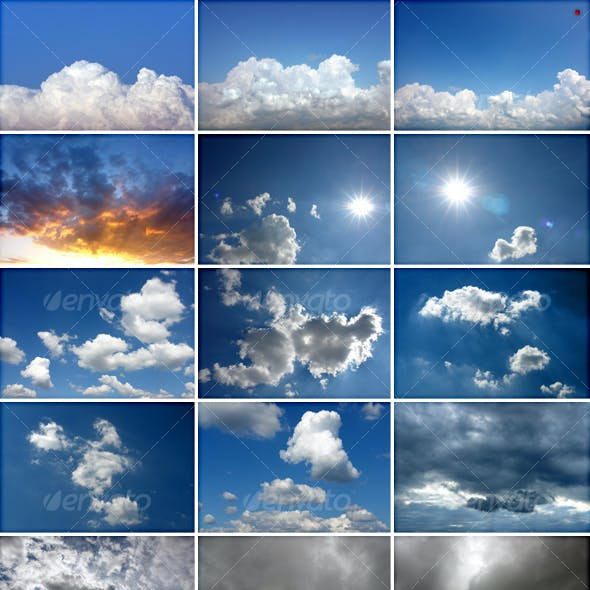 My 50 Cloud Textures