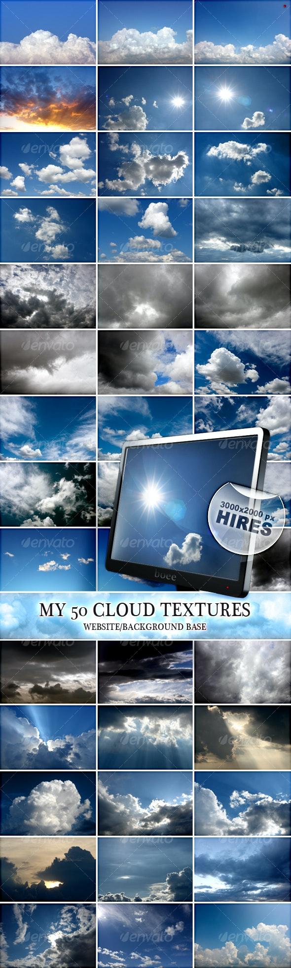 My 50 Cloud Textures - Nature Textures