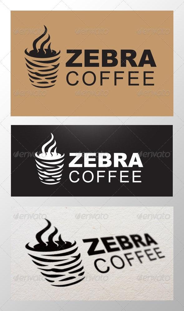 Zebra Coffee Logo - Objects Logo Templates