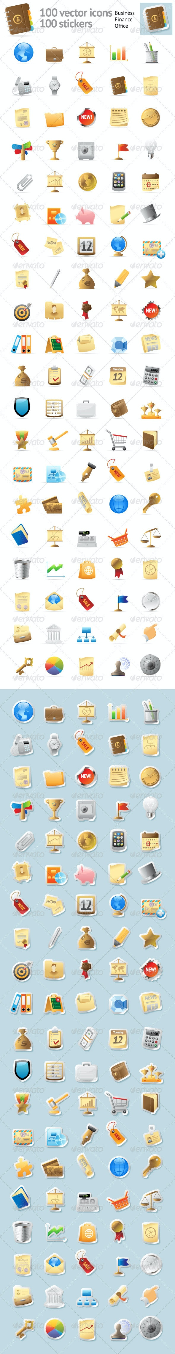 100 Icons For Business