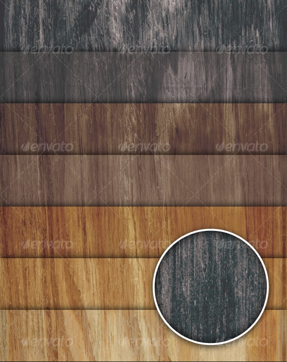 7 Wood Colorful Variation Pack - Wood Textures