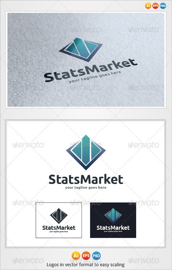 Stats Market Logo - Symbols Logo Templates