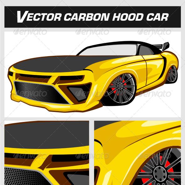 Vector Carbon Hood Car