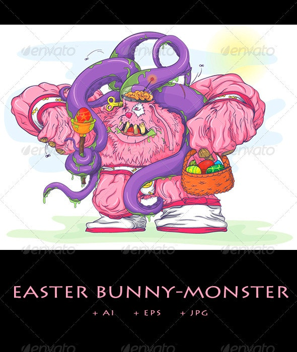 Easter Bunny-Monster - Monsters Characters