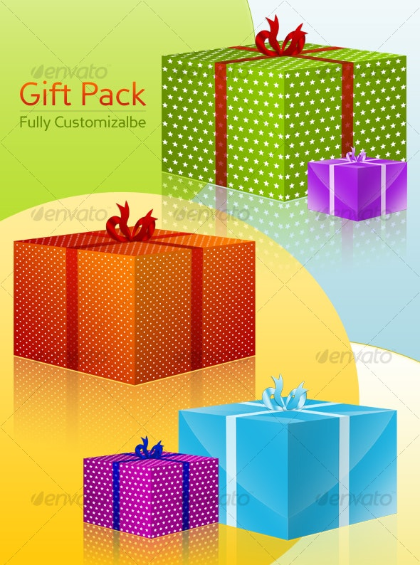 Gift Pack - Fully Customizable - Objects Illustrations