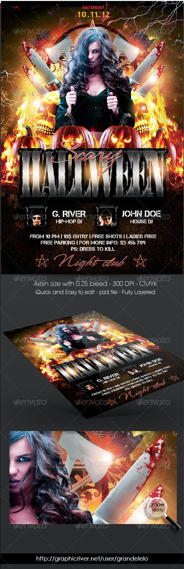 Scary Halloween Flyer - Holidays Events
