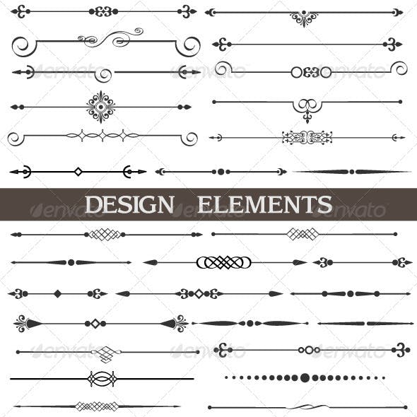 Calligraphic design elements and page decor