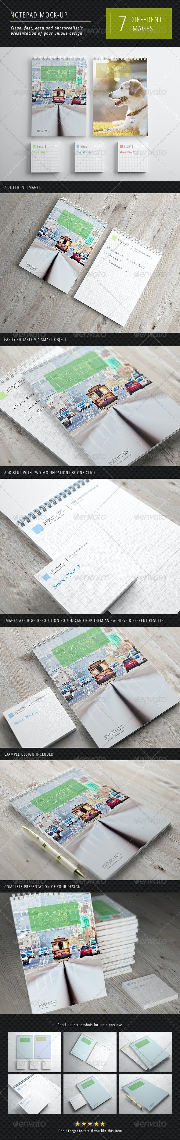 Notepad Mock-Up 1 - Miscellaneous Print