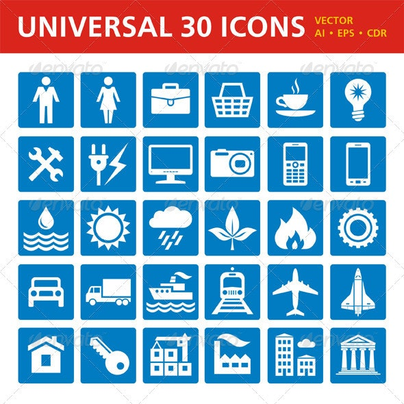 Universal 30 Icons - Miscellaneous Icons