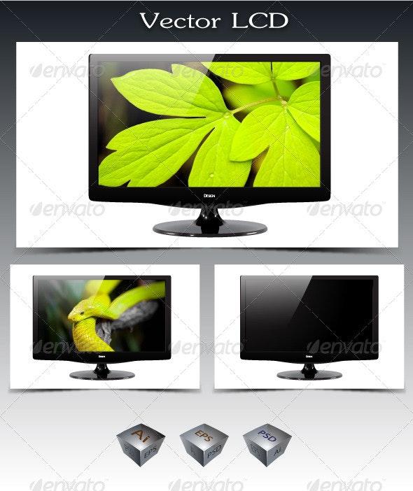 Vector LCD Screen - Technology Conceptual