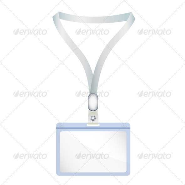 Badge - name tag illustration - Man-made Objects Objects