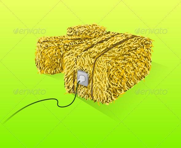Straw Bales Illustration - Conceptual Vectors