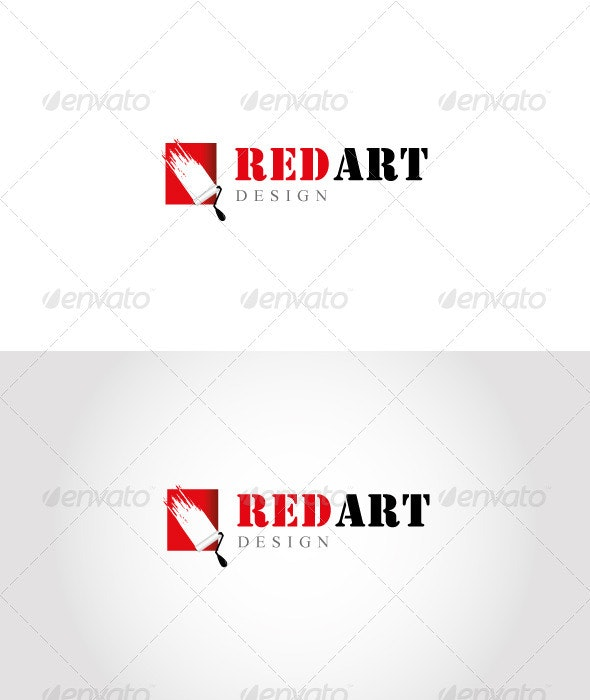 Red Art Logo - Objects Logo Templates