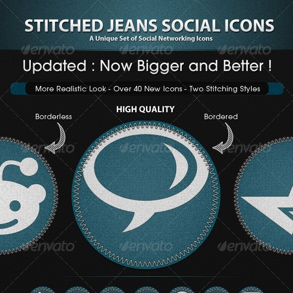 Stitched Jeans Social Icons
