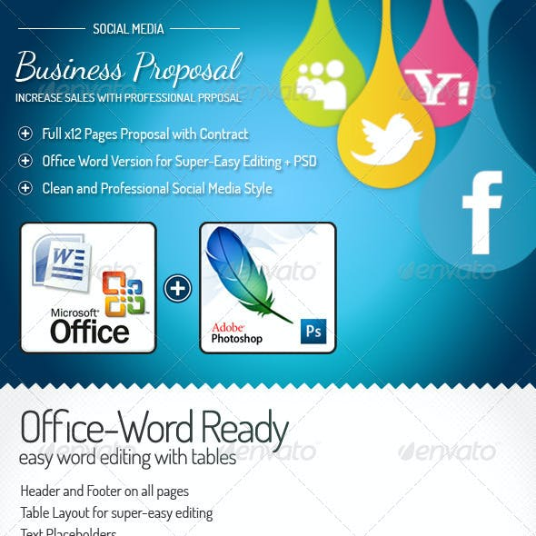 Full Proposal Template + Office Word Version