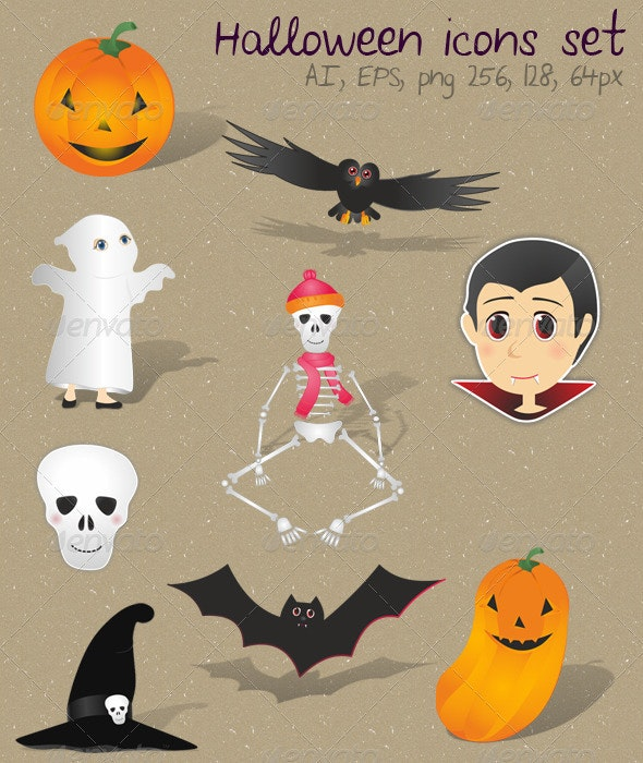 Haloween Vector Set - Halloween Seasons/Holidays