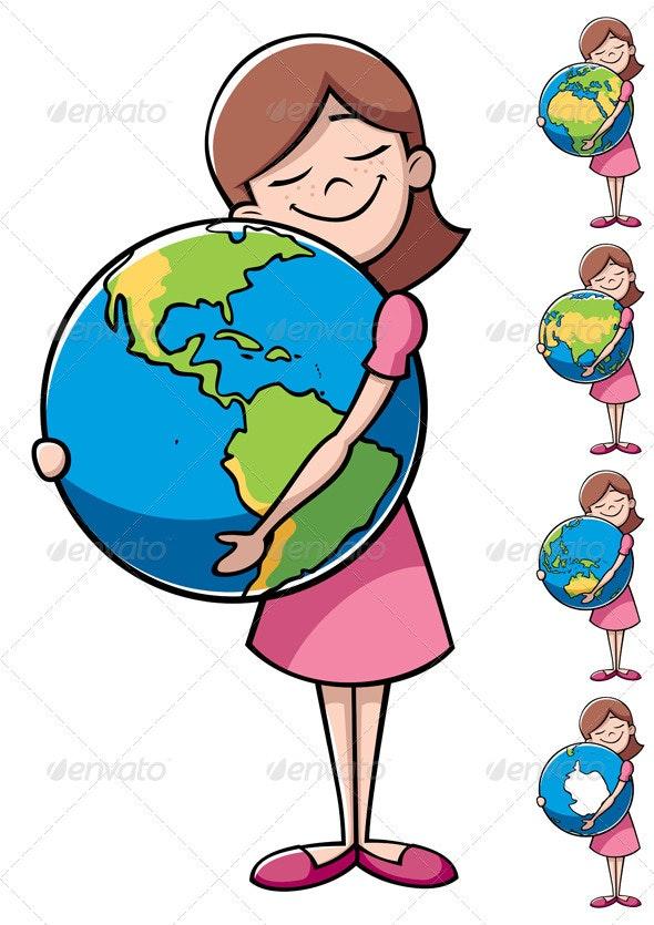 Child and Earth - Conceptual Vectors