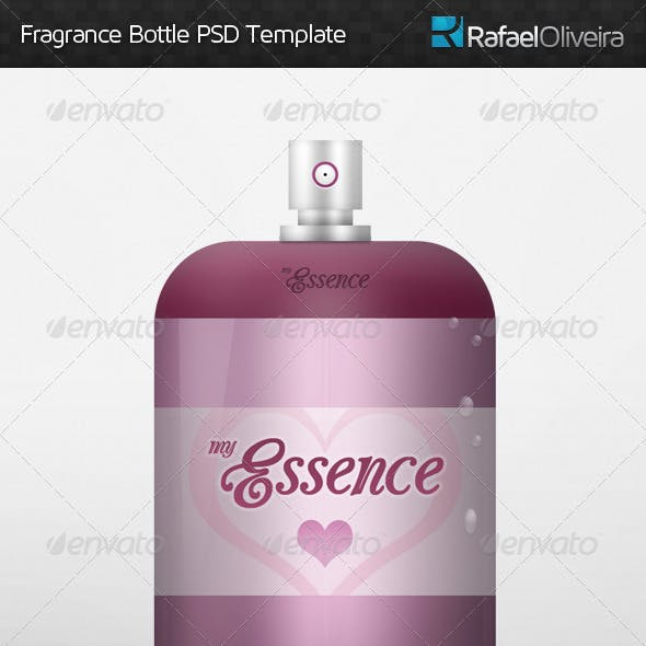 Fragrance Bottle PSD Template