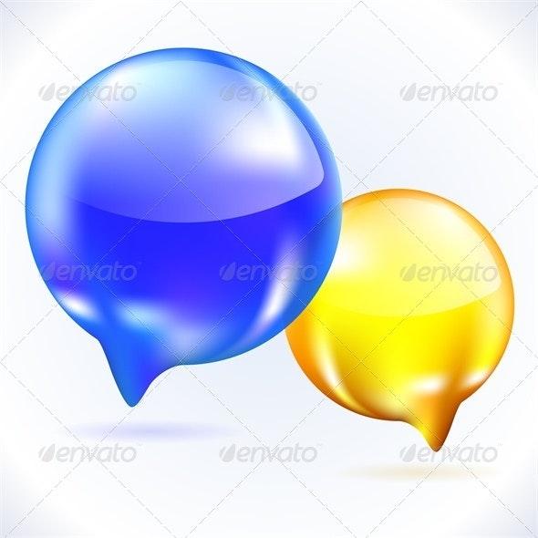 Glass speech bubbles - Communications Technology