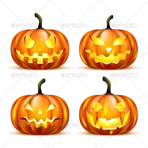 Jack Lantern Pumpkins - Halloween Seasons/Holidays