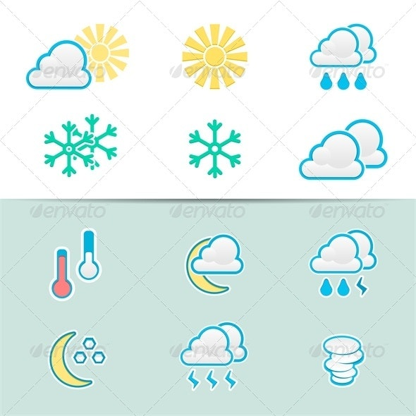 Weather Icons - Abstract Conceptual
