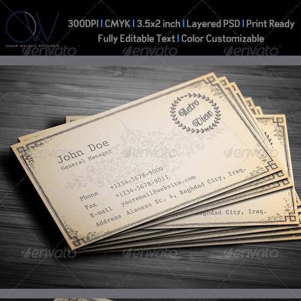 Retro / Vintage Business Card