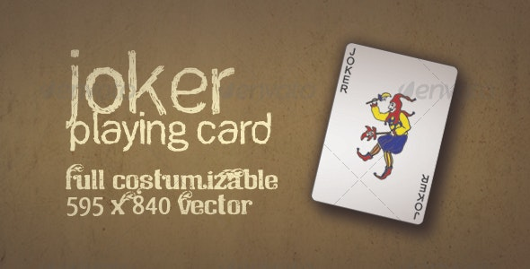 Joker Playing Card Vector - Miscellaneous Vectors
