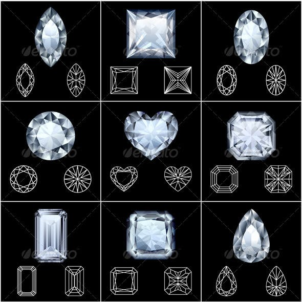 Diamonds set