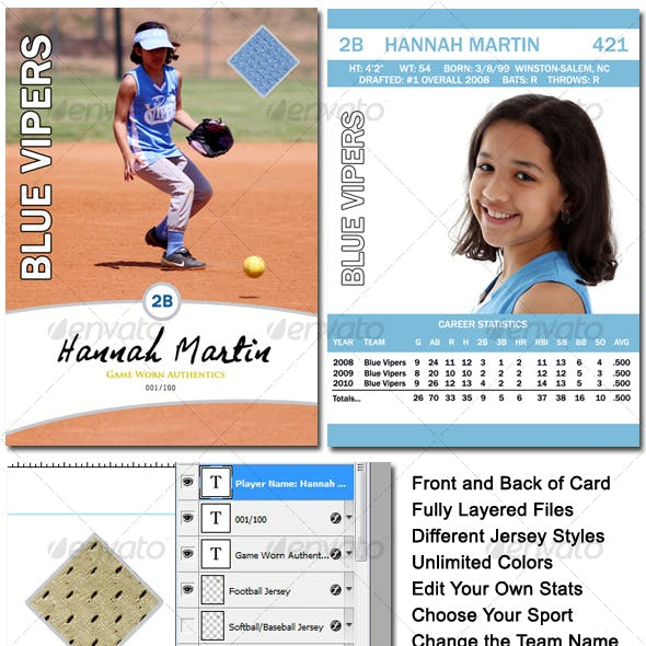 Sports Card Template