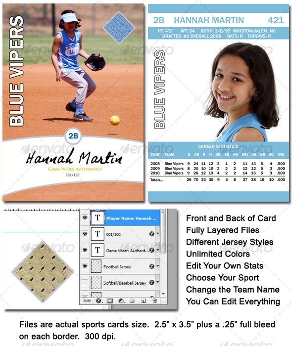 Sports Card Template - Miscellaneous Photo Templates