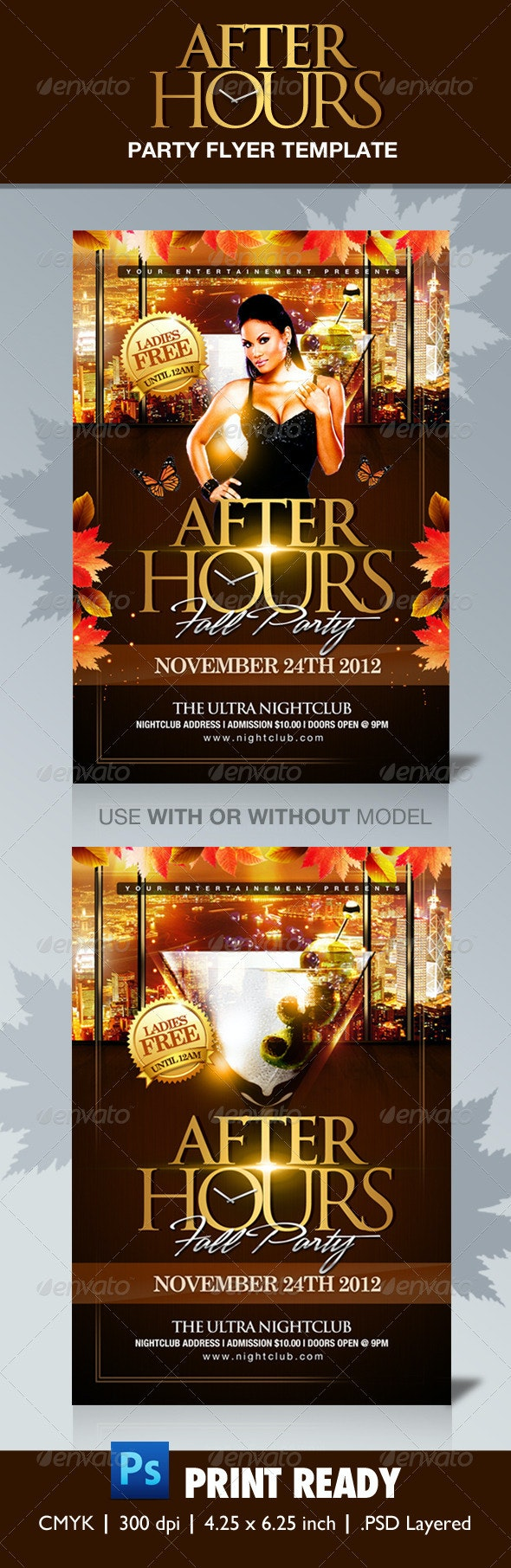 After Hours Party Flyer Template - Clubs & Parties Events