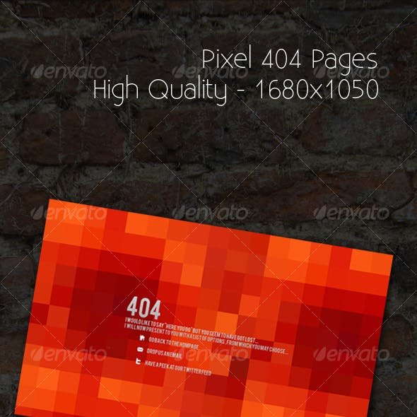 Pixel 404 Pages