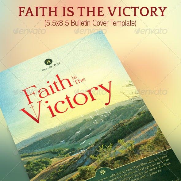 Faith Victory Church Bulletin Template