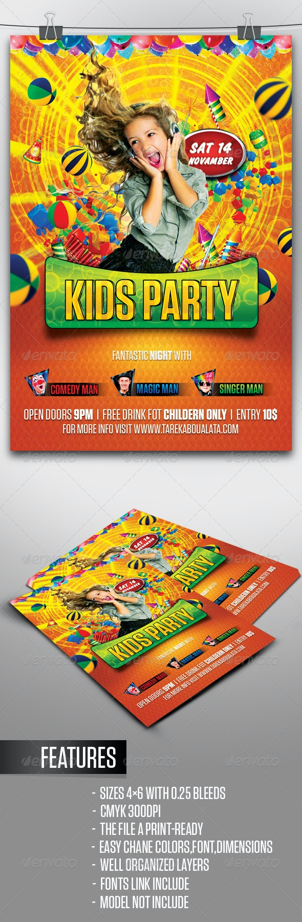 Kids Party Flyer - Clubs & Parties Events