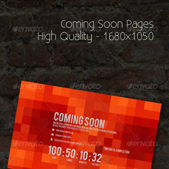 Pixel Coming Soon Pages