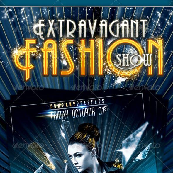 Extravagant Fashion Show Flyer