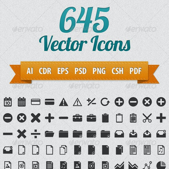 645 Vector Icons