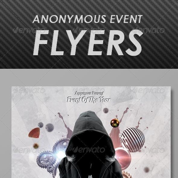 Anonymous Event Flyers