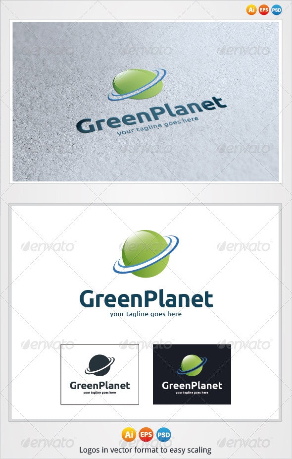Green Planet Logo - Symbols Logo Templates