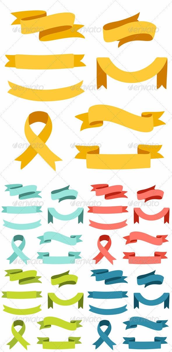 Ribbons Set - Decorative Symbols Decorative