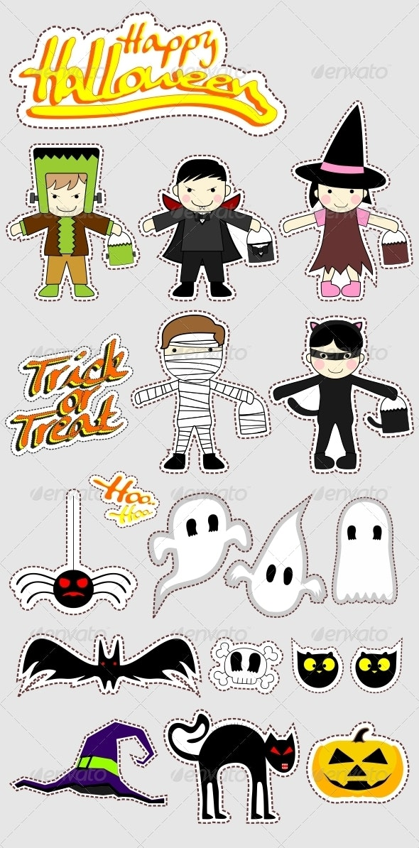 Happy Halloween - Characters Vectors